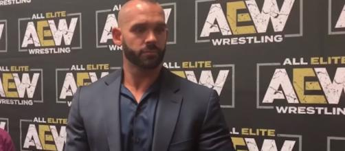 Former WWE star Tye Dillinger is now Shawn Spears for AEW but still unsigned. Photo via WhatCulture Wrestling/YouTube