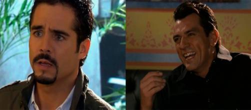 José Ron e Jorge Salinas em 'A Que Não Podia Amar'. (Reprodução/Televisa)