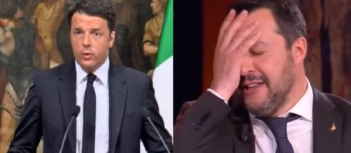 Matteo Renzi pensa che il 'fenomeno Salvini' avrà vita breve in politica (Ph. Youtube).