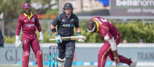 New Zealand v West Indies Warm-up match (Image via ICC/Twitter)