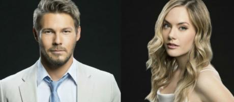 Liam and Hope will be reunited with Beth in November. [Image Source: CBS soaps spoilers/YouTube]