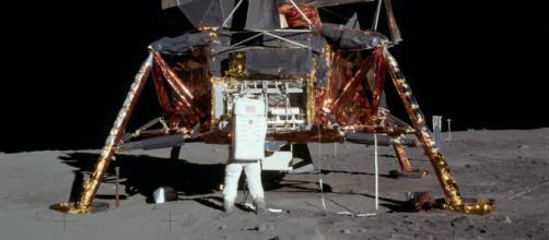 Há 50 anos, nave Apollo 11 pousou na Lua. (Reprodução/Wikimedia Commons)