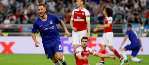 Hazard fue la gran figura del Chelsea en la final de la Europa League. www.standard.co.uk