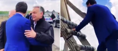 Ungheria: Salvini visita il muro
