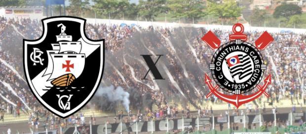Vasco x Corinthians ao vivo terá transmissão do Premiere para todo Brasil. (Arte/ Gabriel Alvesbre)
