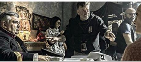 Le riprese della fiction 'Il commissario Ricciardi'.