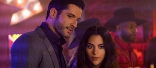 Lucifer and Eve return to Hell in the season 4 finale. [Image Source: Lucifer Facebook page]