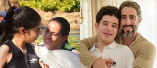 Silvia Abravanel e Marcos Mion passam bastante tempo na companhia dos filhos. (Reprodução/Instagram/@silviaabravanel/@marcosmion)