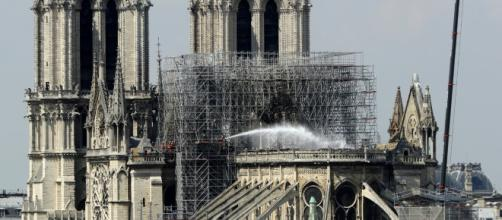 The French Senate wants burned Notre Dame Cathedral to be rebuilt to its original form. [Image credit: Newsy/YouTube/Screenshot]