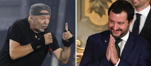 Cannabis: Vasco Rossi e Matteo Salvini la pensano in maniera opposta