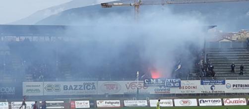 Lo stadio Enzo Blasone di Foligno, teatro della semifinale della Poule Scudetto Serie D tra Cesena e Lecco.