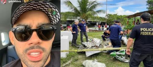 O acidente aconteceu na última segunda-feira (27), em Estância, Sergipe. (Reprodução/Instagram/@gabrieldiniz/Divulgação/PF Sergipe)