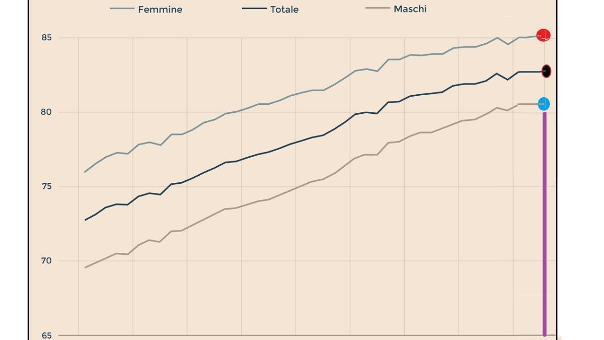 """Risultato immagini per gap di vita tra maschi e femmine"""""""