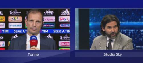 Massimiliano Allegri e Daniele Adani (foto: sport.sky.it)