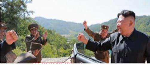 North Korea launches first successful intercontinental ballistic missile test. [Image source/ABC News YouTube video]
