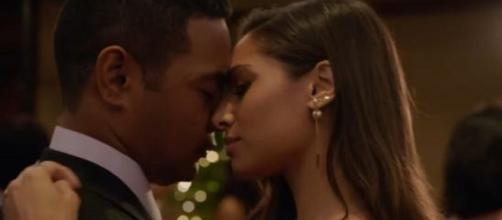 Tani (Meaghan Rath) and Junior (Beulah Koale) find something more than friendship on 'Hawaii Five-O.' [Image source: Hawaii Five-O-YouTube]