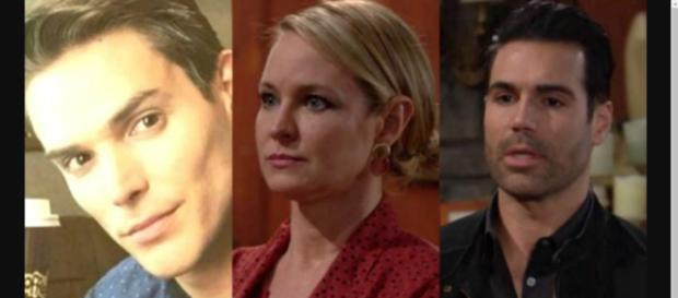 Adam could come between Sharon and Rey. [Image Source: Y&R Spoilers-YouTube]