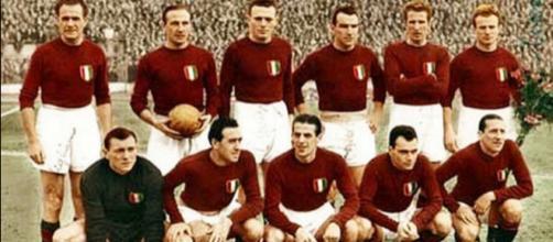 Il Grande Torino in una storica foto della seconda metà degli anni '40