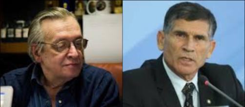Ministro Santos Cruz responde as criticas ao filosofo Olavo de Carvalho. (Arquivo Blasting News)