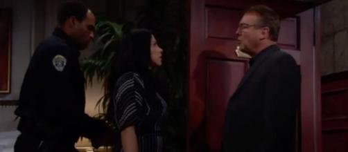 Paul arrests Mia for attacking Lola. Image Source: CBS Y&R Spoilers-YouTube.
