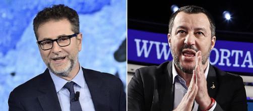 Prosegue lo scontro tra Fabio Fazio e Matteo Salvini