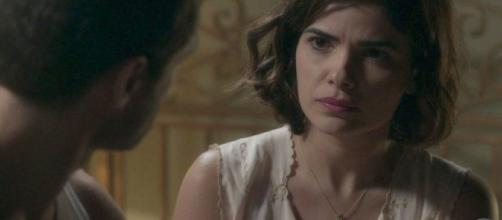 Stella fica grávida após enterrar seu marido. (Reprodução/ TV Globo)
