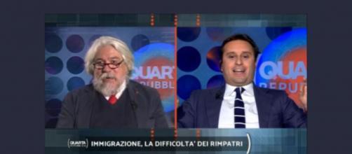 Meluzzi e Mussolini contro Parenzo a Quarta Repubblica