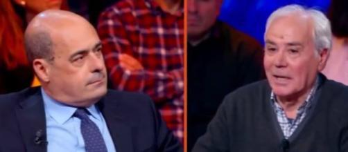 Pensionato comunista faccia a faccia con Zingaretti: 'Pd non è più con noi, voto la Lega'
