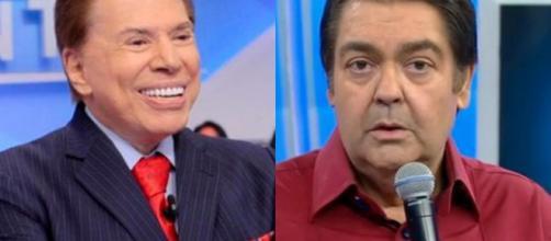 Silvio Santos e Faustão. (Arquivo Blasting News)