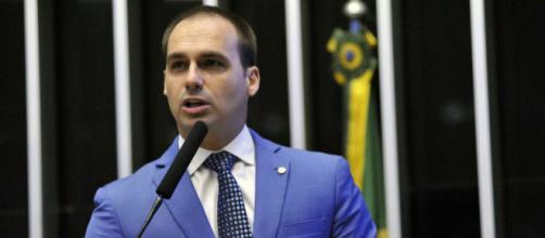 Eduardo Bolsonaro sai em defesa de Olavo de Carvalho. (Divulgação/Alex Ferreira/Câmara dos Deputados)
