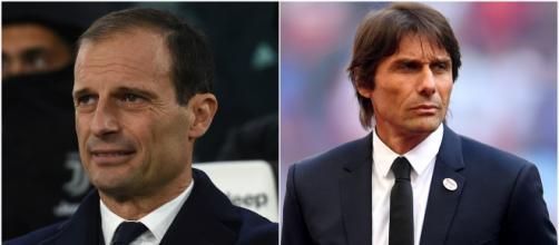 Massimiliano Allegri e Antonio Conte (Foto: Stadium Astro; Esquire)