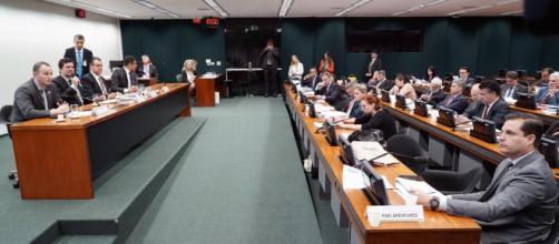 Parlamentares se desentendem em audiência com Sergio Moro. (Pablo Valadares/Câmara dos Deputados)
