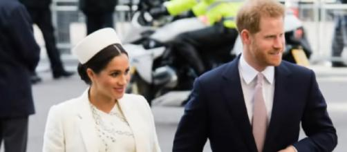 Prince Harry and Meghan Markle welcome baby boy. [Image source/ABC News YouTube video]
