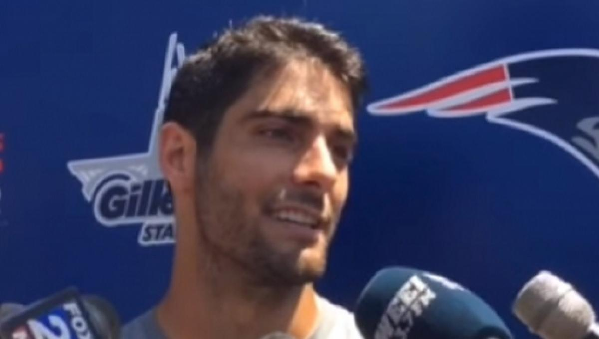 Tom Brady Gives Advice To Jimmy Garoppolo On His Acl Injury