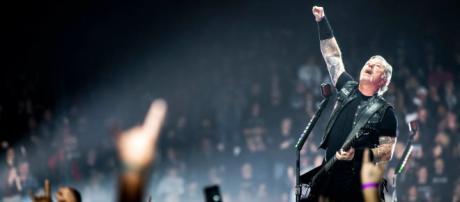 James Hetfield dei Metallica in concerto
