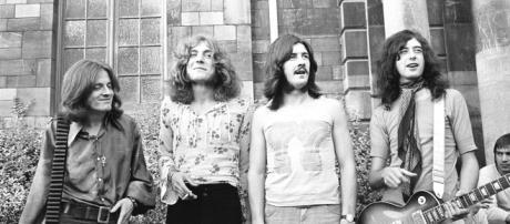 Led Zeppelin: da sinistra John Paul Jones, Robert Plant, John Bonham e Jimmy Page