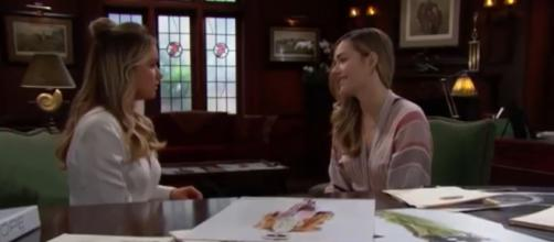 Flo May tell Hope about the baby switch. [Image Source: CBS-YouTube]