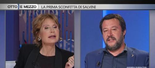 Scontro tra Lilli Gruber e Matteo Salvini a Otto e Mezzo