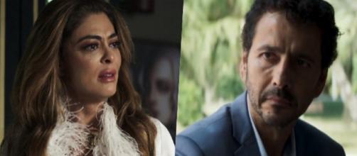 Ao saber que Gilda tem câncer, Amadeu abandona Maria em 'A Dona do Pedaço'. (Reprodução/TV Globo)
