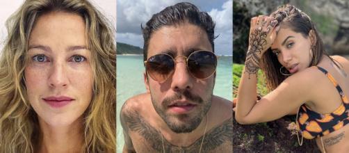 Dois meses após se separar de Luana Piovanni, Pedro Scooby começa namoro com Anitta. (Reprodução/Instagram @luapio/@pedroscooby/@anitta)