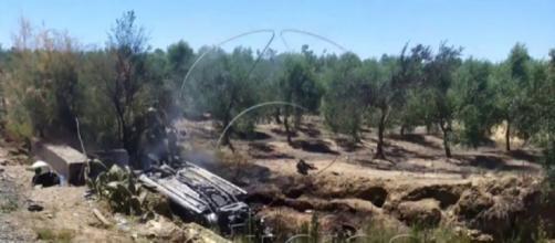 Imágenes obtenidas por Antena 3 tras el accidente mortal de Reyes. / Atresmedia