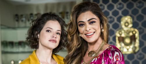 Josiane pode ter sido trocada na maternidade em A Dona do Pedaço (Foto: Reprodução/TV Globo)