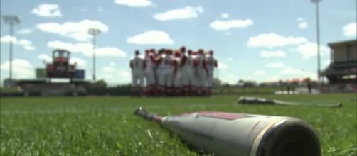 The Nebraska baseball opened the postseason with a victory [Image via HuskerHighlights/YouTube screencap]