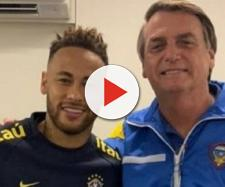 Jair Bolsonaro deu apoio moral ao jogador Neymar (Foto: Reprodução/Instagram @jairmessiasbolsonaro)