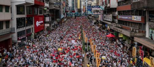 La protesta contro l'estradizione a Hong Kong