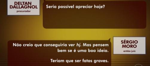 Na visão de Moro, não existe nada de irregular nas conversas exibidas. (Reprodução/TV Globo)