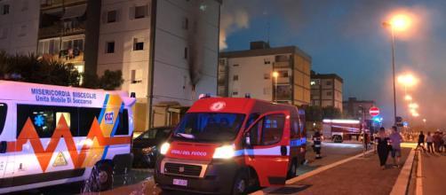 Bari, incendio in un appartamento al quartiere San Pio: uomo si getta dalla finestra