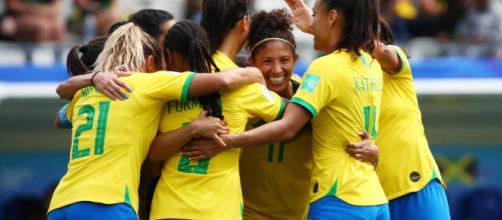 Cristiane fez um hat-trick na estreia da seleção brasileira na Copa do Mundo da França. (Arquivo Blasting News)