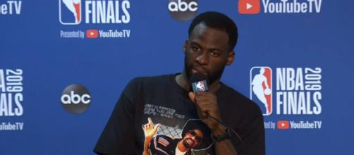 Draymond Green in the middle of trade rumors - (Image credit: NBA.com/Youtube screencap)