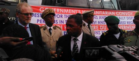 Le Ministre de l'Administration Territoriale Paul Atanga Nji le 13 juin 2019 à Yaoundé © Odile Pahai
